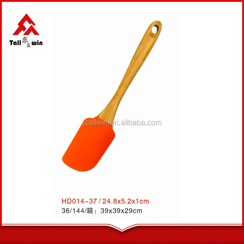 Wooden handle silicone spatula,kitchen utensils,silicone tools