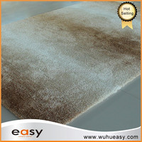 Soft tufted backing polyester ivory and brown microfiber carpets and rugs