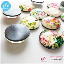 custom flower designs new decoration for home crystal magnet glass fridge magnet