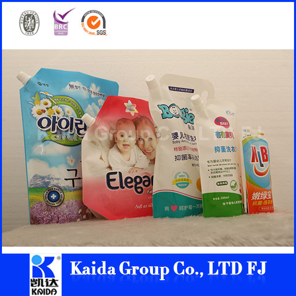 stand up bag with zipper low price from china high quality hot sale laundry detergent pouch liquid packaging bag