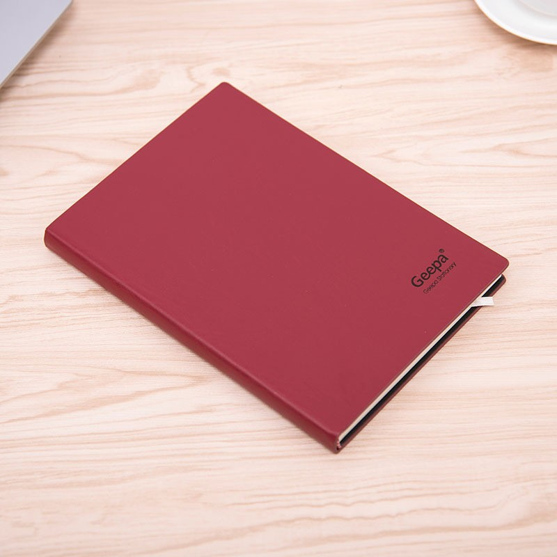 embossed logo and pu leather notebook/a5 pu leather notebook cover