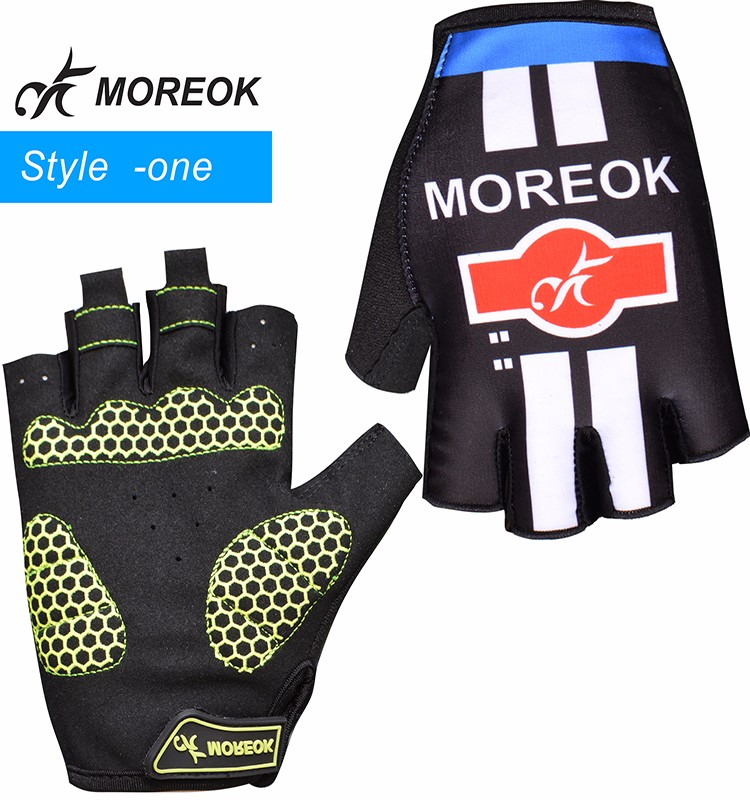 MOREOK Racing Short Finger Silicone Alveolate Cycling Bicycle Hand Gloves