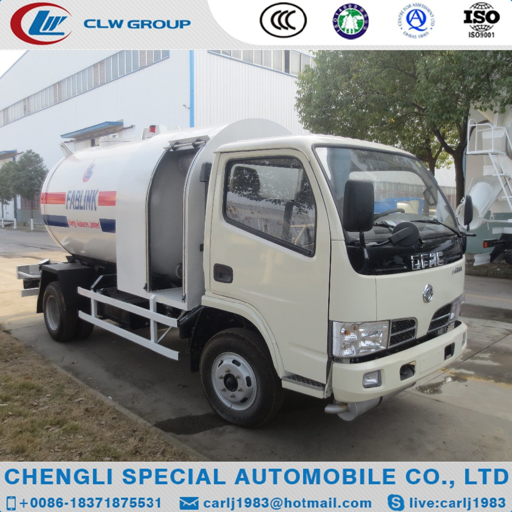 DongFeng 4X2 new 5000L mini mobile dispenser lpg gas tank trucks