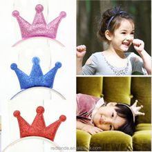 China cheap girls hair hoop with lovely crown decoration for women girls hair buckle