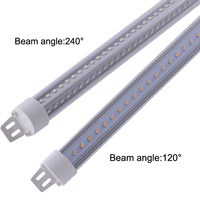 V shape led t8 tube light 5ft 6ft 8ft for Freezer/Cooler