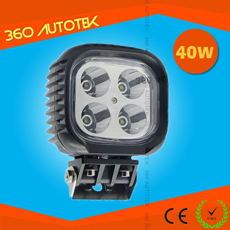 New style auto Waterproof 10-60V 40w led truck working light, offroad led work light, 40w led driving light