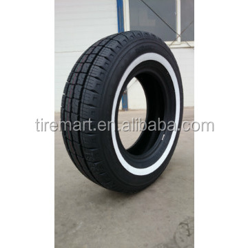 White side wall tyre hot sale 205/75R14C WSW car <strong>tires</strong>