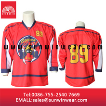 Brand name dry fit ice hockey jersey