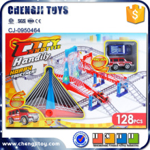 Slot toy track racing plastic rail car for kids model railway