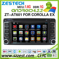 ZESTECH car dvd player for Toyota Universal car dvd player DVR Android 4.2.2 capacitive multi touch screen