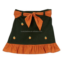 2014 new arrival navy 2-6Y flower autumn cotton young girls mini skirt with a layer of tutu