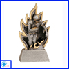 rugby player on fire trophy resin figure
