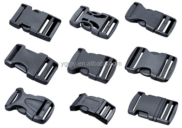 0mm Black Contoured Curved <strong>Buckle</strong> for Paracord Bracelet Side Release Bag Accessory