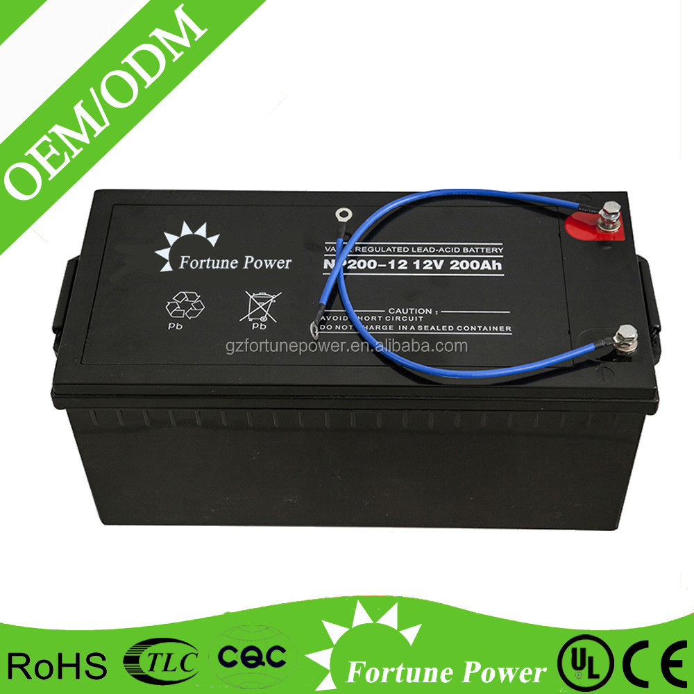 high quality sealed maintenance free solar gel vrla agm battery 12v 200ah