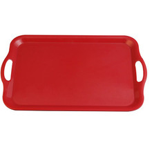 large long shallow plastic tray with handles
