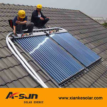 Heat pipe vacuum tube pressurized solar collectors and solar water heater