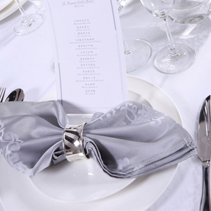 Satin Band Wedding Polyester Napkin Dinner Table Napkin