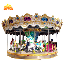 Large size shopping mall kids ride carousel for promotion