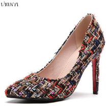 LXUNYI women shoes 2018 ladies pointed sexy nightclub pumps high heel shoes