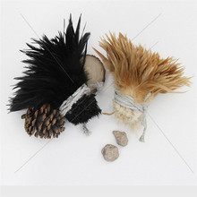 Factory direct selling strung cock schlappen white feather cock saddle hackle feathers