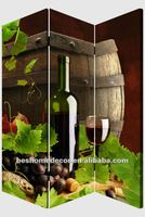 Grape wine folding room partition, kitchen room divider, illuminated room divider