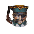 Custom Handmade Pirate Face Shaped Ceramic Pipe Coffee Mug