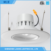 High brightness dimmable led recessed ceiling downlight commercial round 6 inch led downlight