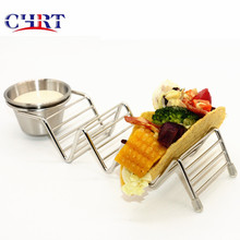 CHRT Stainless Steel Wholesale Stainless Steel Taco Holder for Wedding Dinner <strong>Plates</strong>