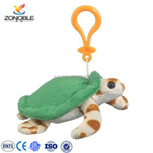 Mini cheap plush animal keychain customized cute stuffed soft turtle plush keychain
