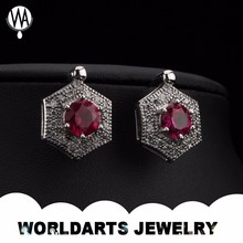 2016 Alloy Red Corundum Jewelry Earrings