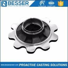 X12CrNi188 stainless steel 1.0401 cast iron 40Mn2 cast iron casting lost wax motorcycle rear hub with disc brake
