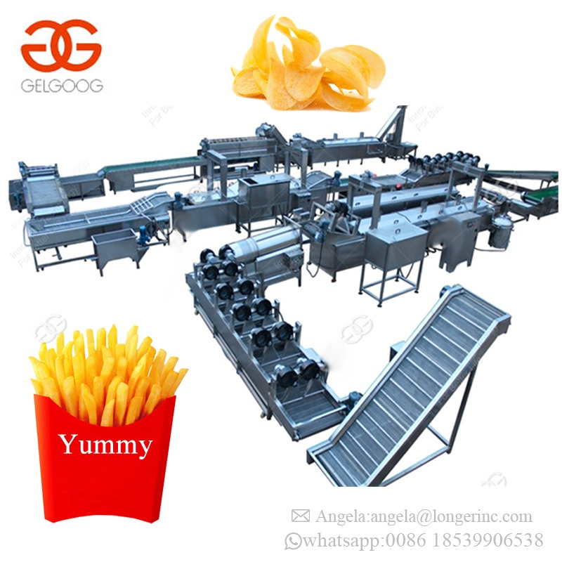 Factory Price Low Cost Snacks Machinery Sweet Potato Chips Frying Making Machine Frozen French Fries Processing Plant for Sale