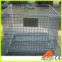 free designed top quality metal wire mesh container,large dog cage,heavy duty storage bin