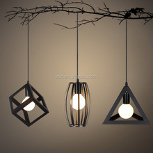 Home decorative pendant lighting modern indoor geometric pendant light for living room