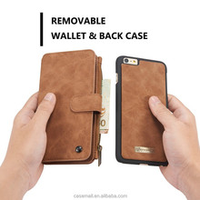 With photo album brown mibile case for iPhone 6s, removable case mobile cover for iPhone 6
