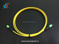 MPO SM / OM3 flat fiber optic patch cord/ optical fiber jumper