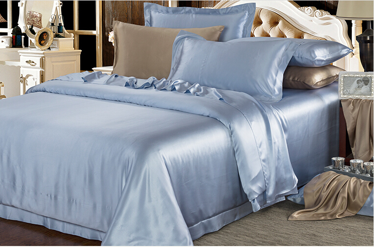 cheap price king size bed sheets silk bedding sets cozy silk bed sheet