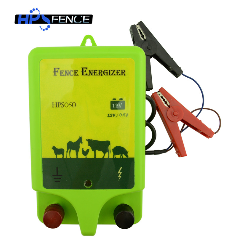 0.5J 20km Farm Solar Power Electric Fence Energizer Charger