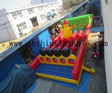 short inflatable obstacle course