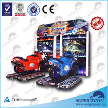 "47""LCD arcade racing motorcycle amusement simulator game motion simulator"