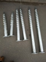 Hot dipped galvanized umbrella fence earth post ground screw anchor