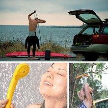 12V Portable Car Washer Car Shower Cleaning Tool Outdoor Camping Travel Motorcycle Spa Wash Kit Fit For Car Cigarette Lighter