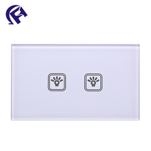 Custom hot touch tempered glass for light switch panel