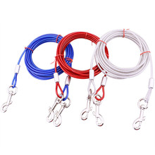 Multiple Dual Coupler Two Way Steel Wire Chain Double Pet Dog Leashes