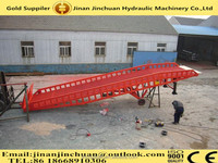 0.5~1.6m, 4 ton hydraulic container loading dock ramp lift /4 post hydraulic car park lift /hydraulic single post car lift