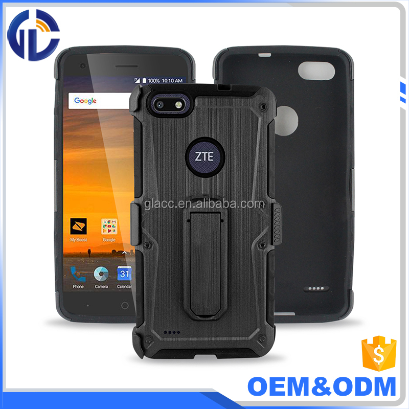 3 in 1 Brushed holster combo case for ZTE Blade x Z965,case for ZTE Warp 8 N9517