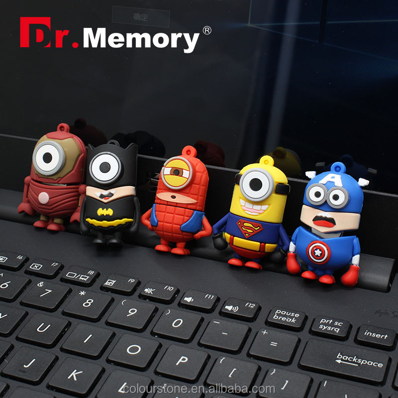 Dr.memory Hot sale despicable me superman/batman/spider-man heros minions usb pen drives stick 16gb 8Gb 4Gb usb flash drive