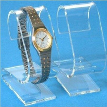 Customised c-shaped acrylic watch display