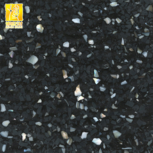 Black With Metal Spot Color Terrazzo Tiles and Slabs Flooring