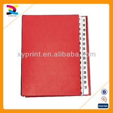 31 Tabs Signature Book made in China alibaba